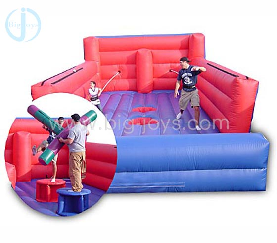 2 IN inflatable bungee run game