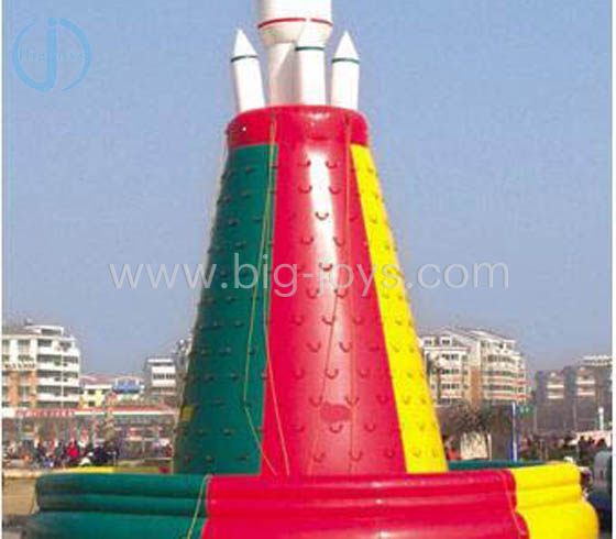 Inflatable Rocket climbing