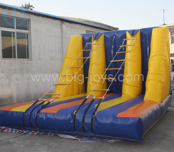 Inflatable rope ladder