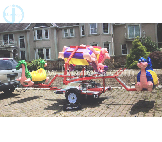 8 Seats Dragon Ride with Trailer